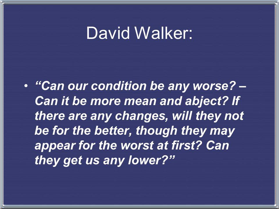 David Walker: