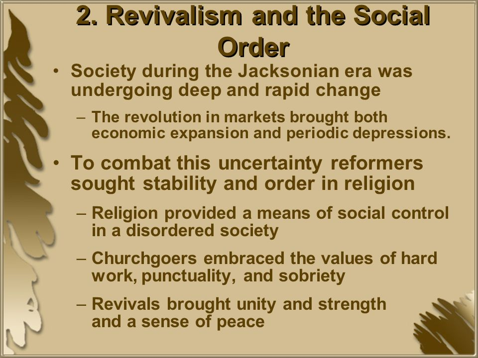 2. Revivalism and the Social Order