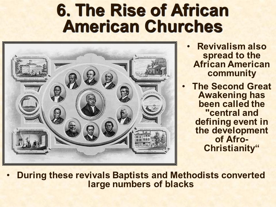 6. The Rise of African American Churches