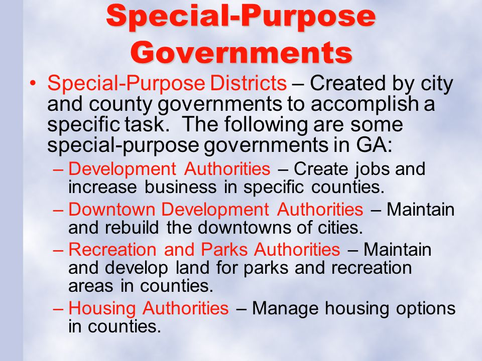 Special-Purpose Governments