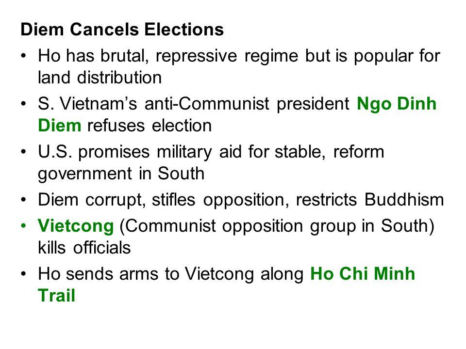 Diem Cancels Elections