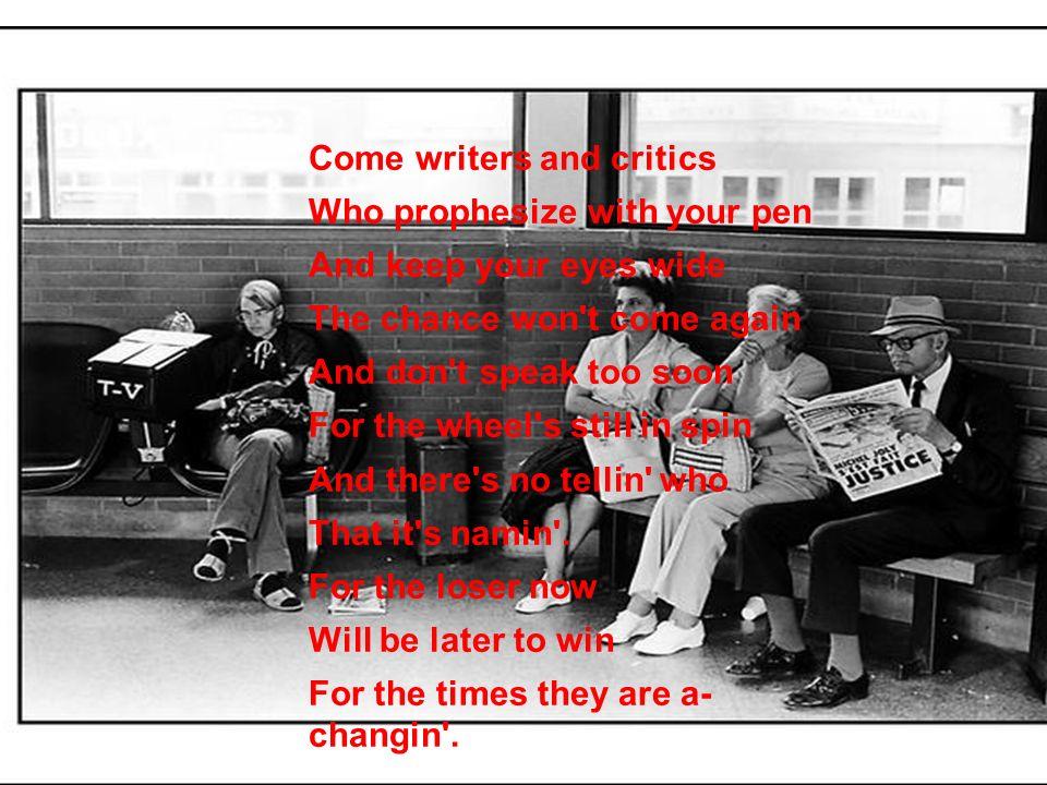 Come writers and critics
