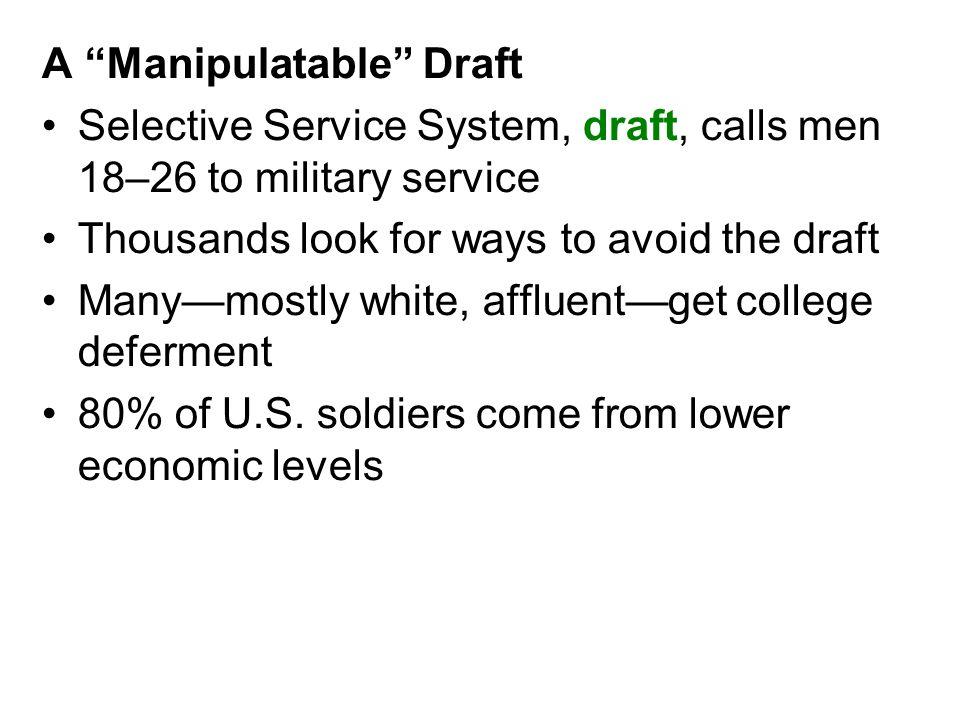 A Manipulatable Draft