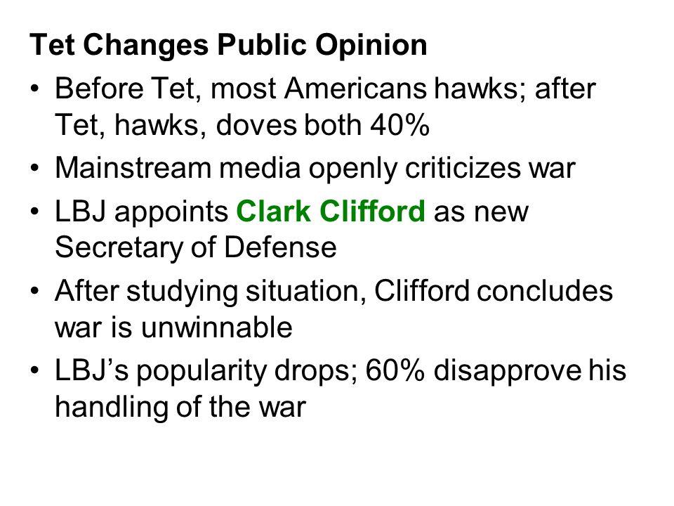 Tet Changes Public Opinion