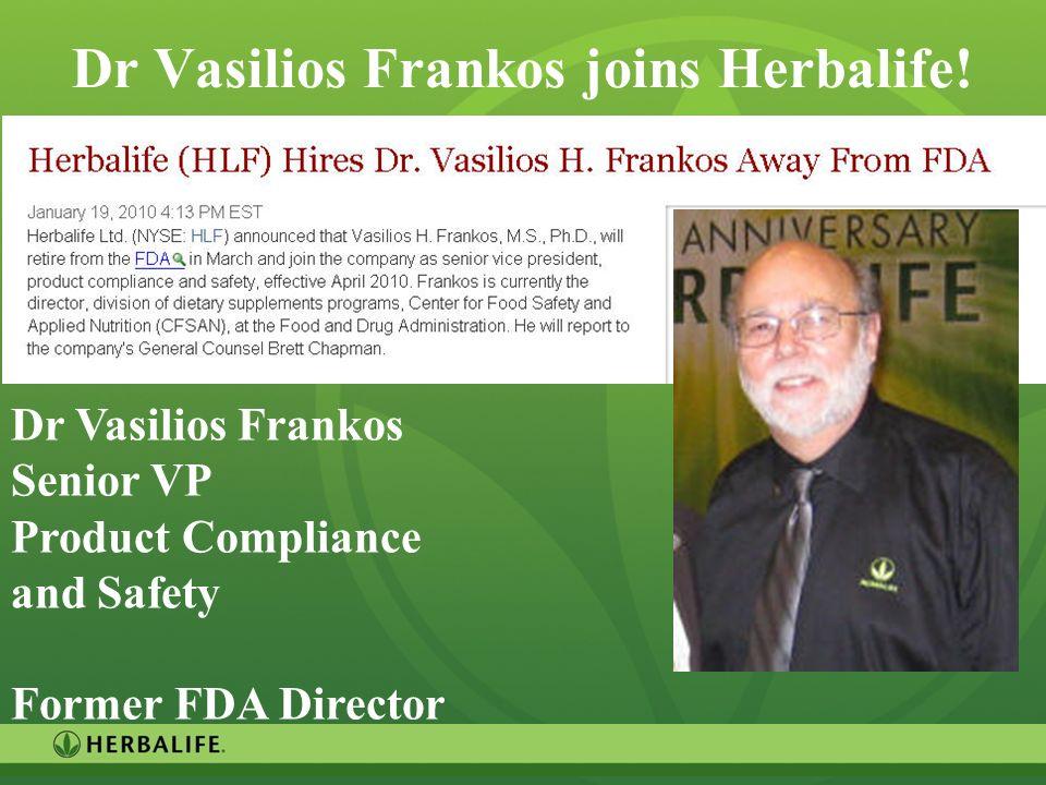 Dr Vasilios Frankos joins Herbalife!