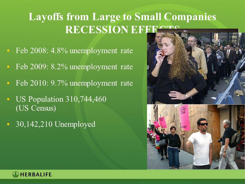 Layoffs from Large to Small Companies RECESSION EFFECTS