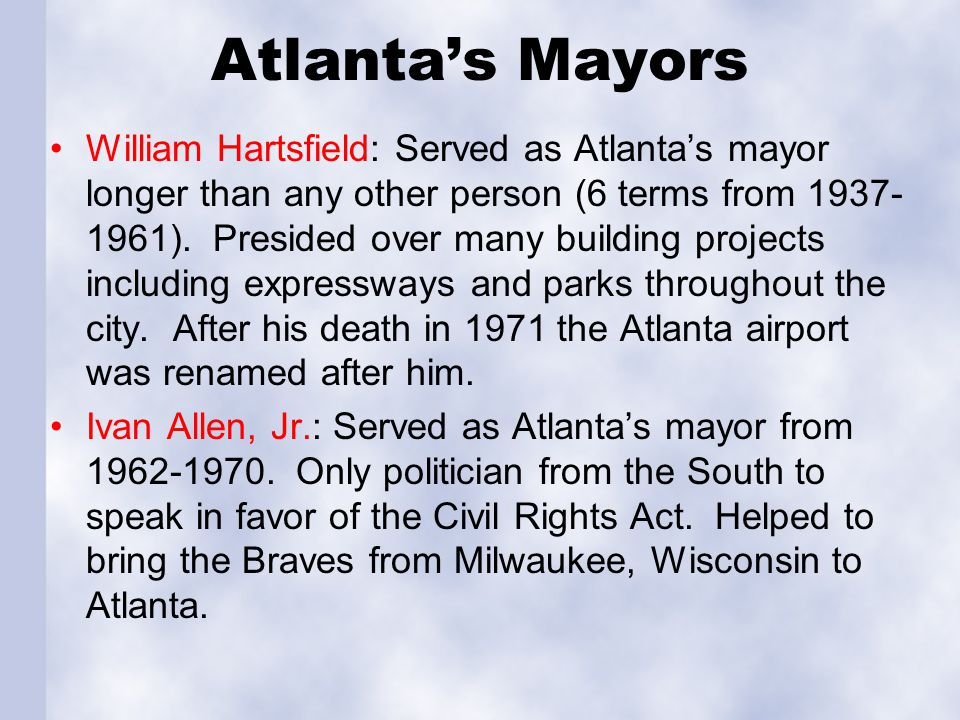 Atlanta's Mayors
