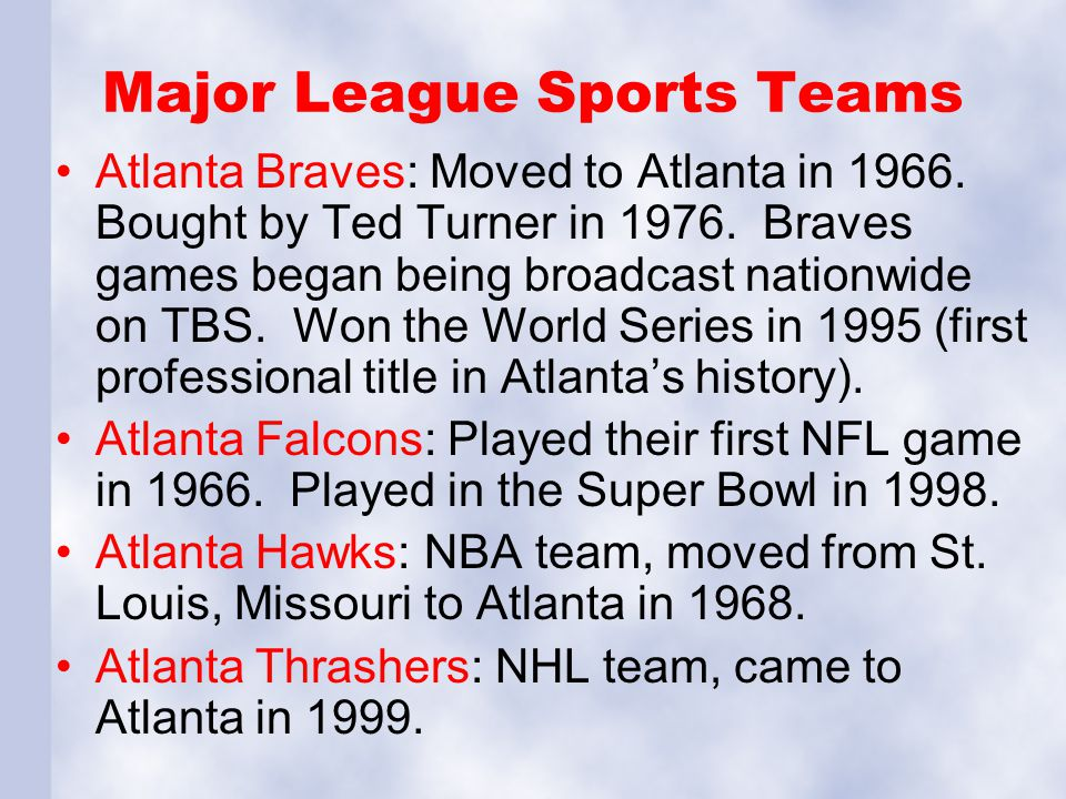 Major League Sports Teams