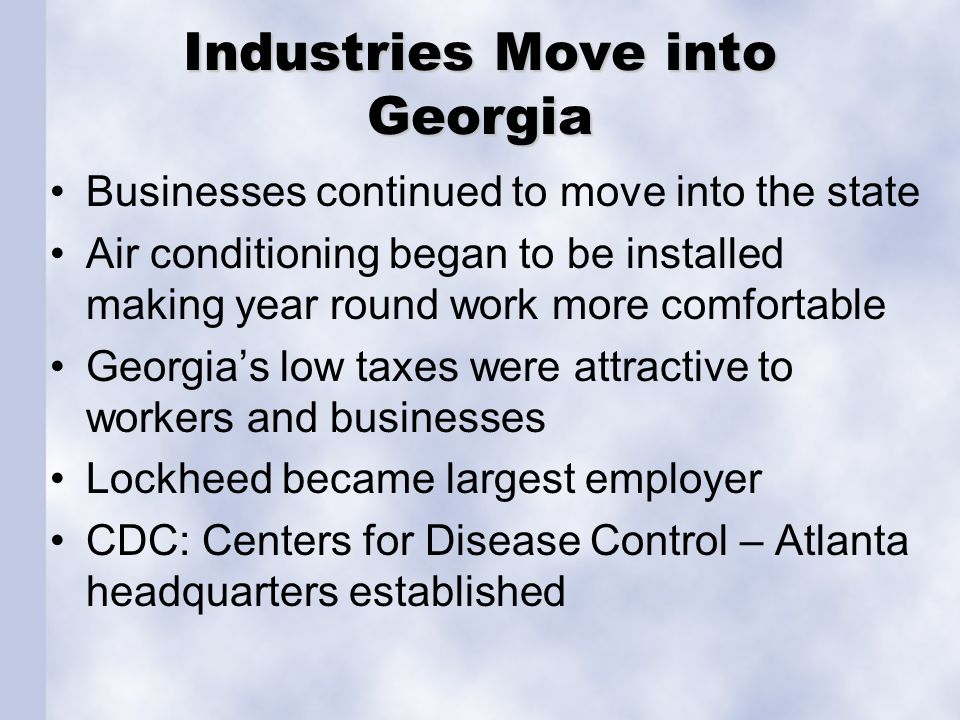Industries Move into Georgia