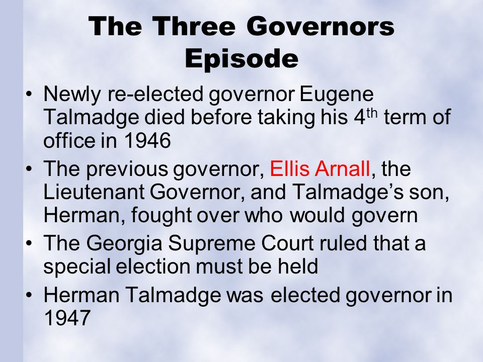 The Three Governors Episode