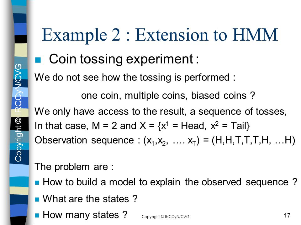 Example 2 : Extension to HMM