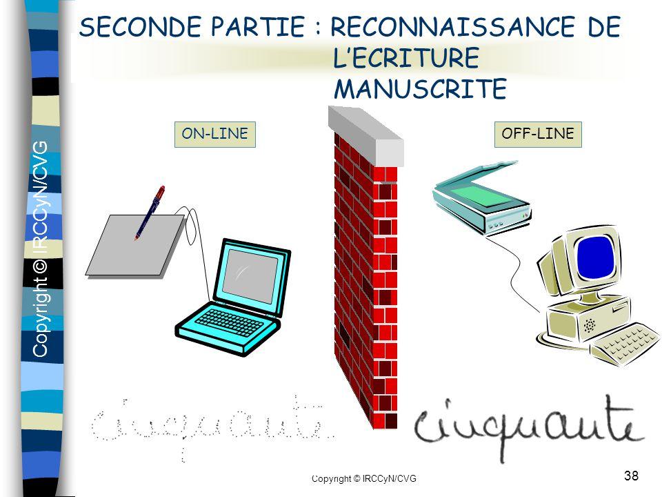 SECONDE PARTIE : RECONNAISSANCE DE L'ECRITURE MANUSCRITE