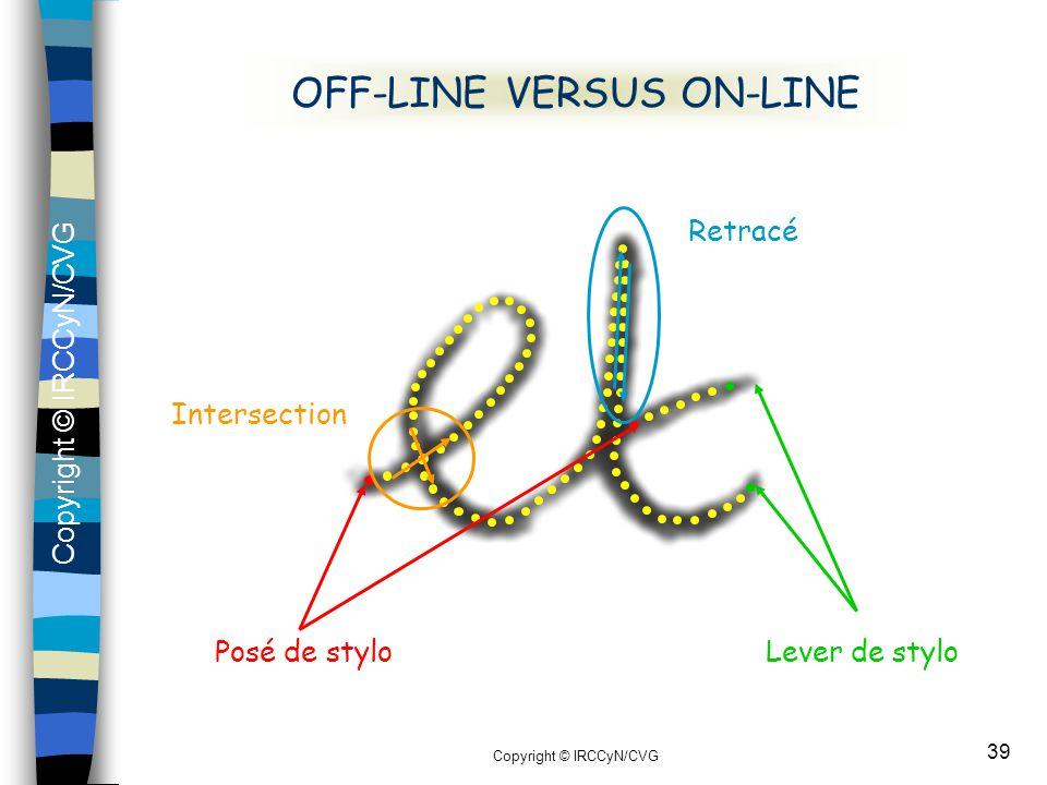 OFF-LINE VERSUS ON-LINE