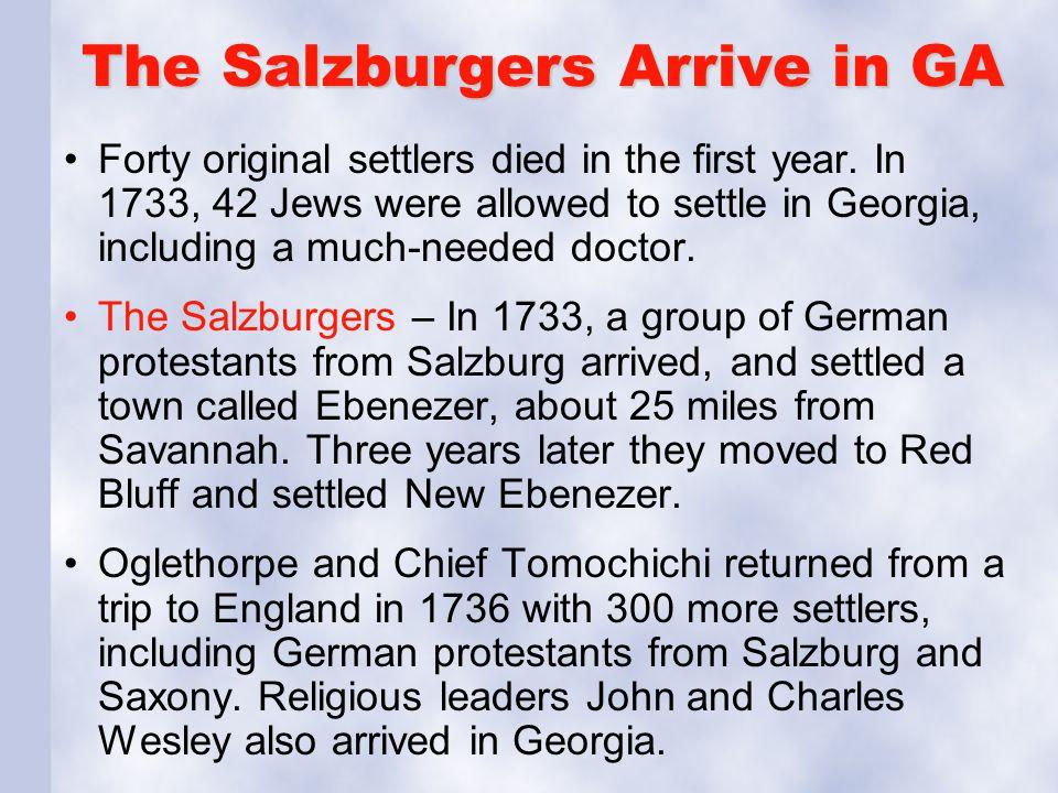 The Salzburgers Arrive in GA
