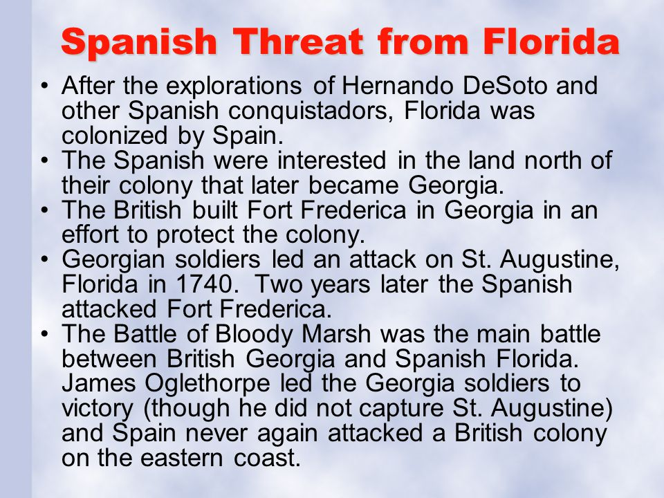 Spanish Threat from Florida