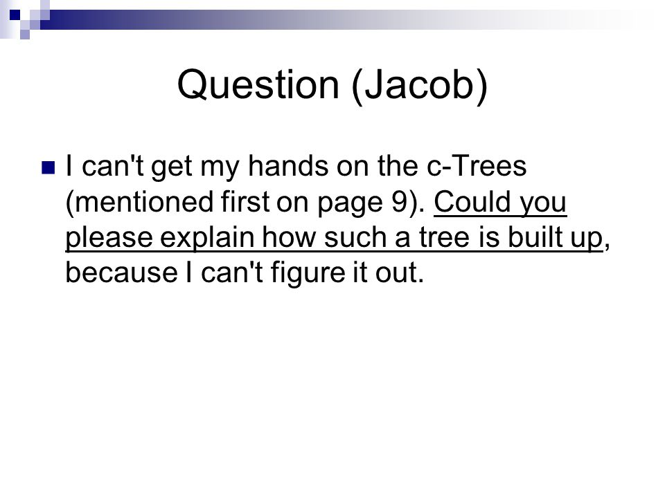 Question (Jacob)