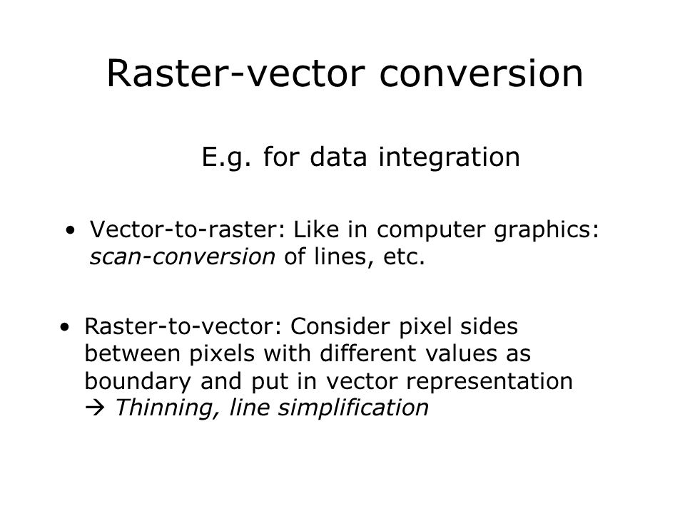 Raster-vector conversion