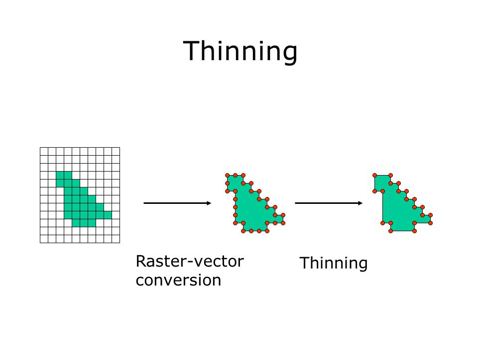 Thinning Raster-vector conversion Thinning
