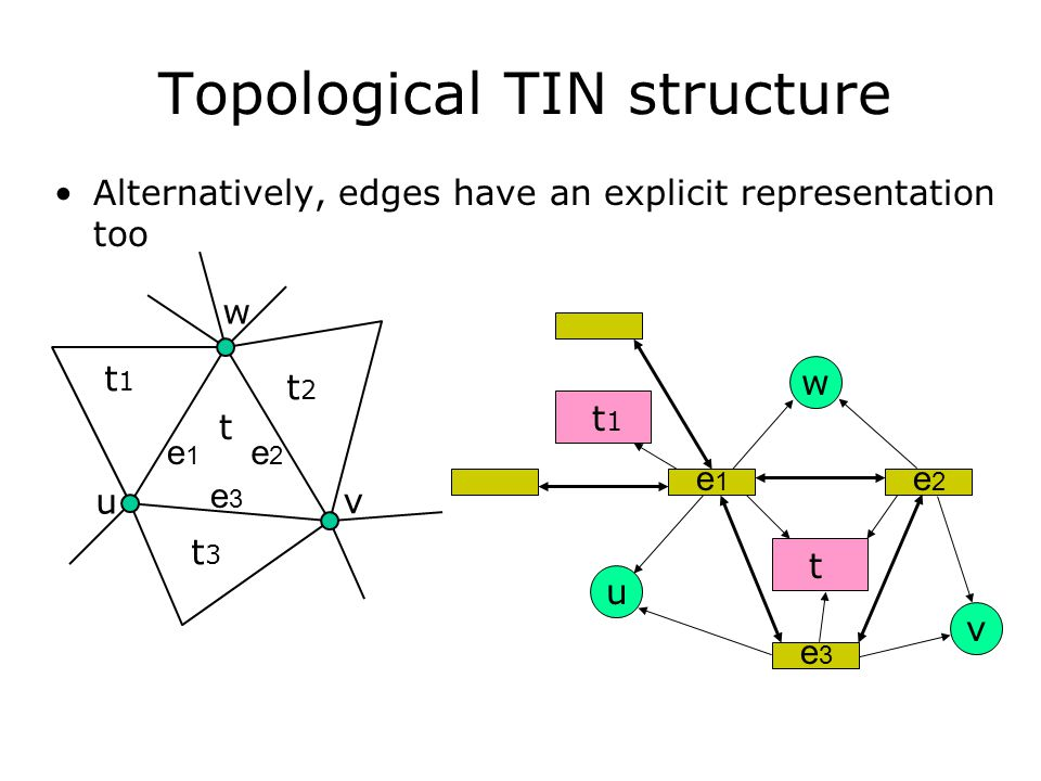 Topological TIN structure