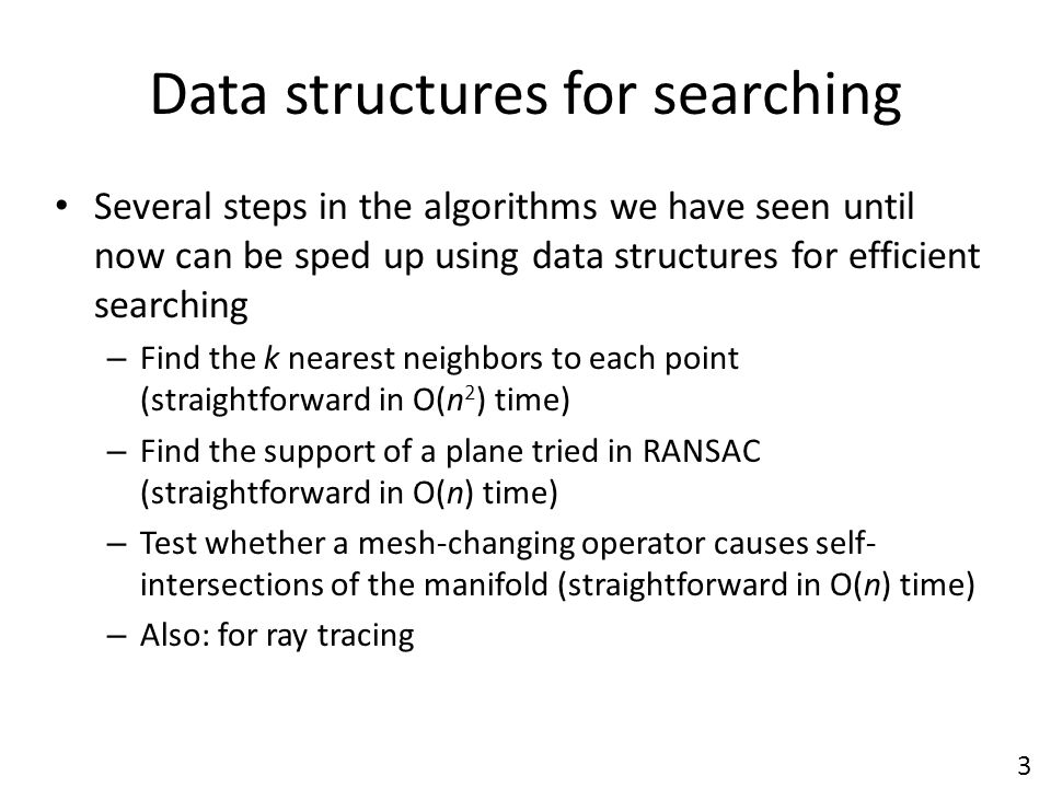 Data structures for searching