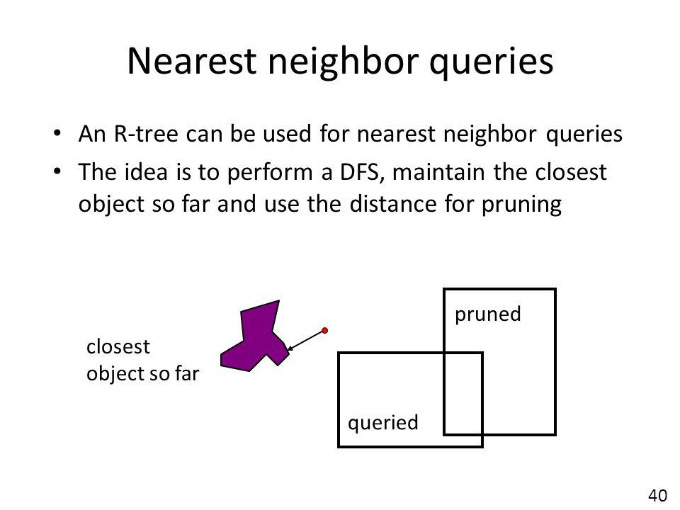 Nearest neighbor queries
