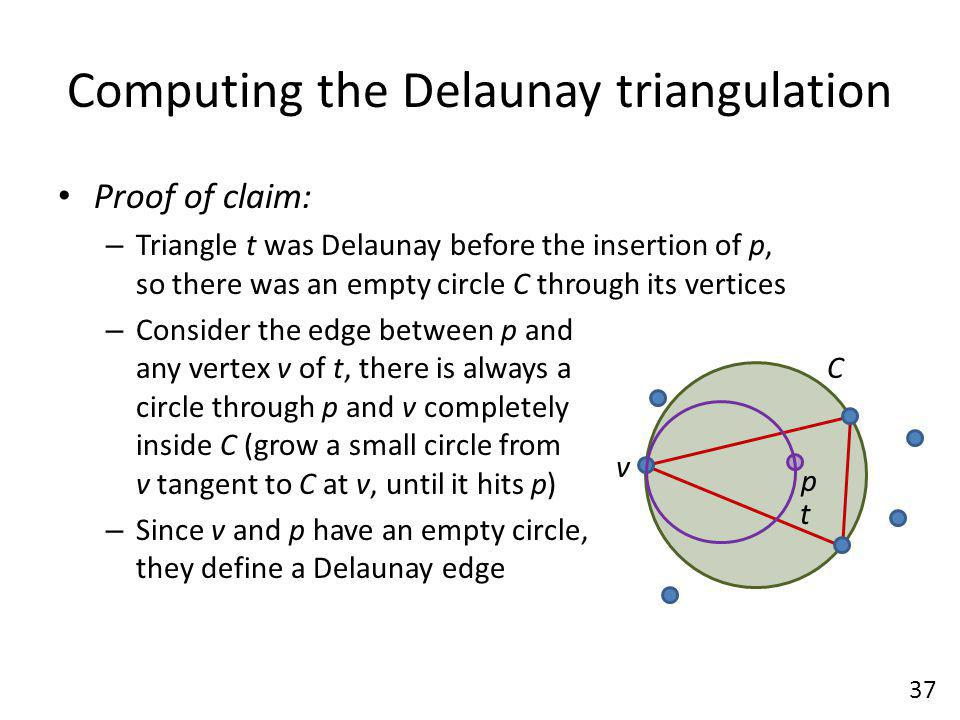 Computing the Delaunay triangulation