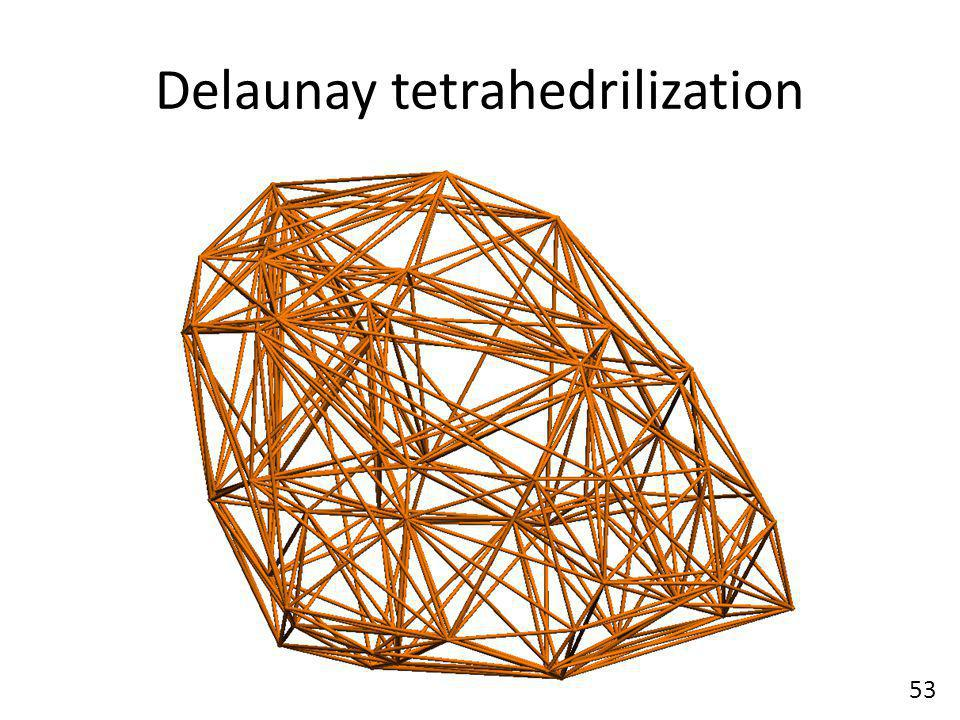 Delaunay tetrahedrilization