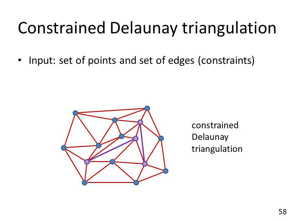 Constrained Delaunay triangulation
