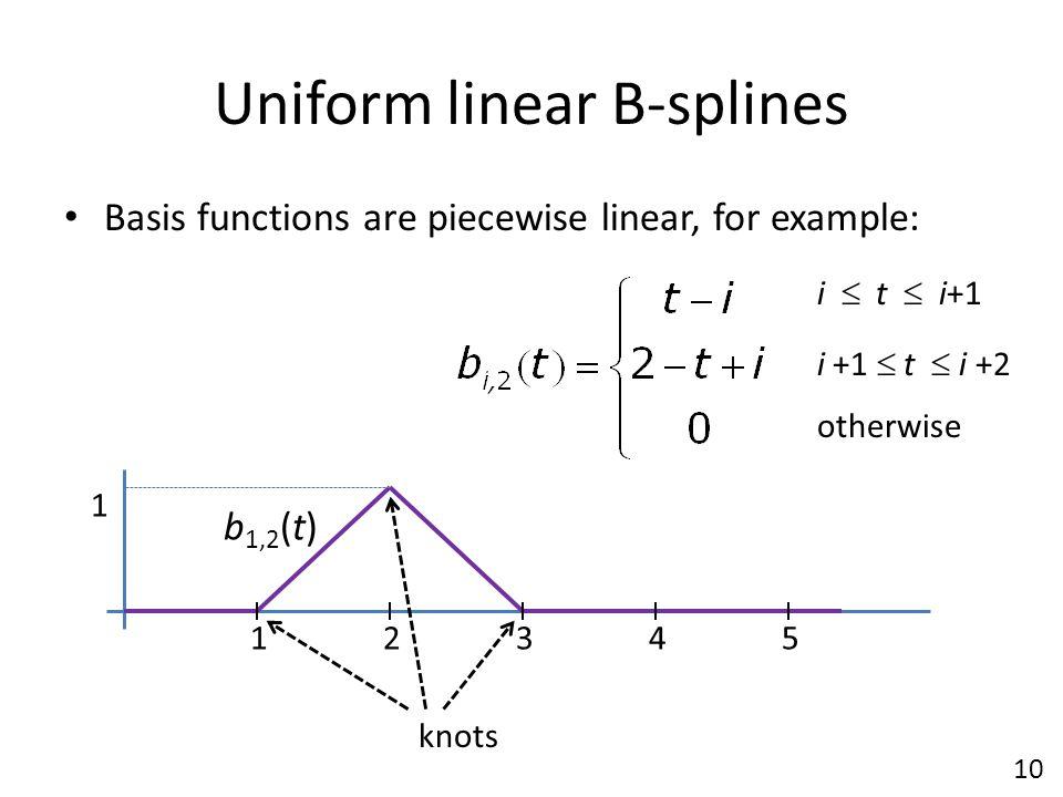 Uniform linear B-splines