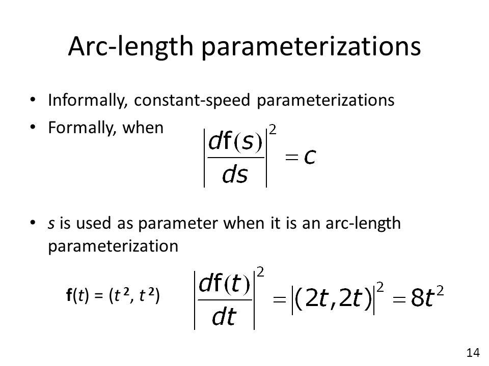 Arc-length parameterizations