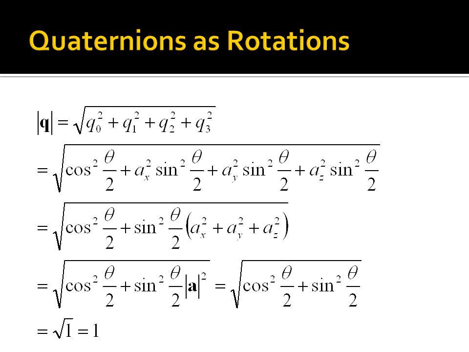 Quaternions as Rotations