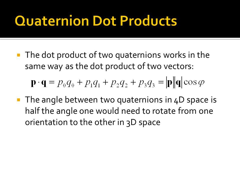 Quaternion Dot Products