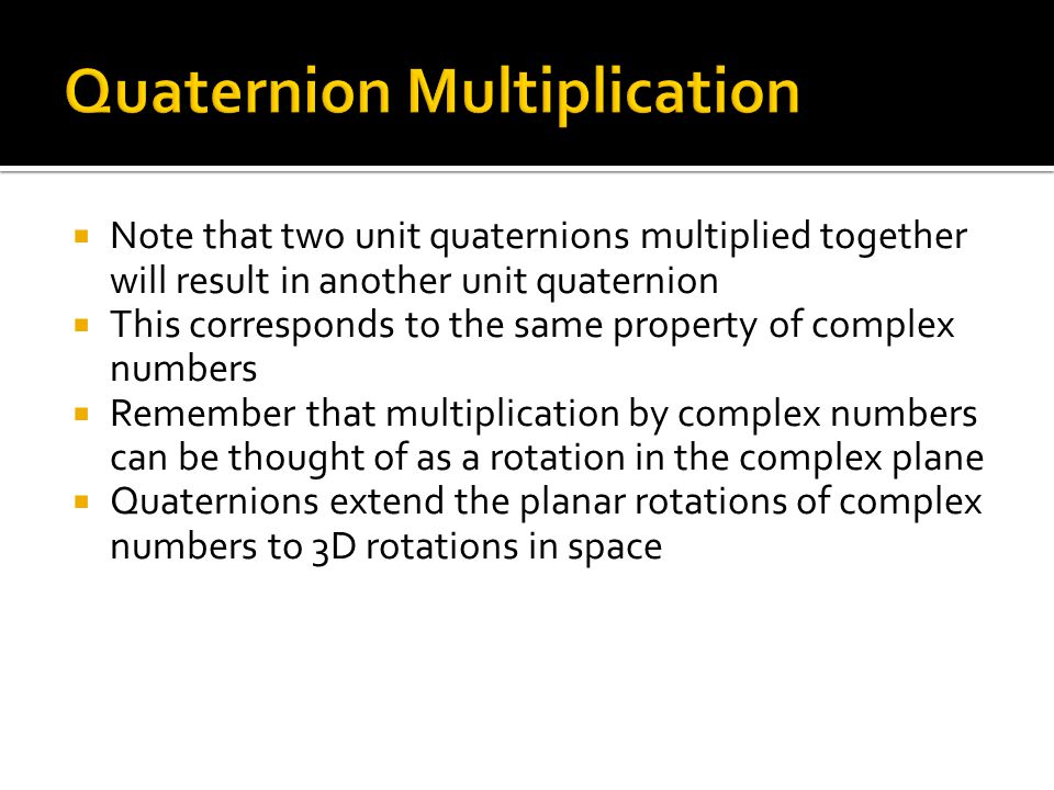 Quaternion Multiplication