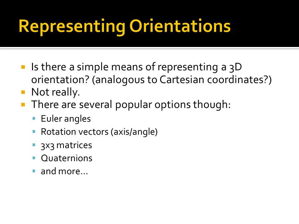 Representing Orientations