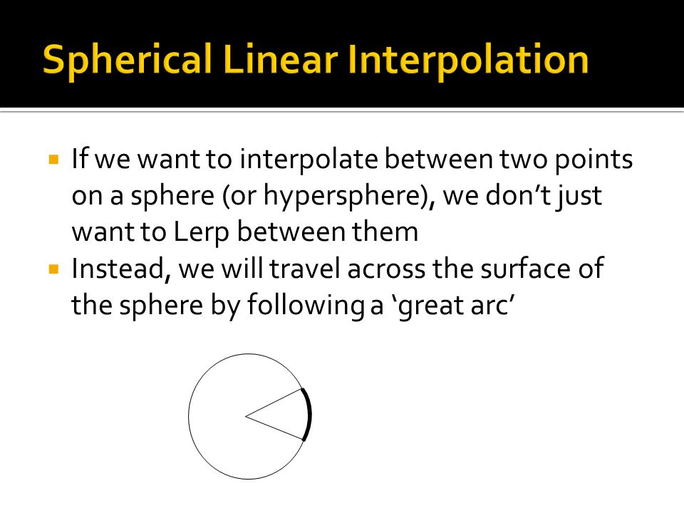 Spherical Linear Interpolation