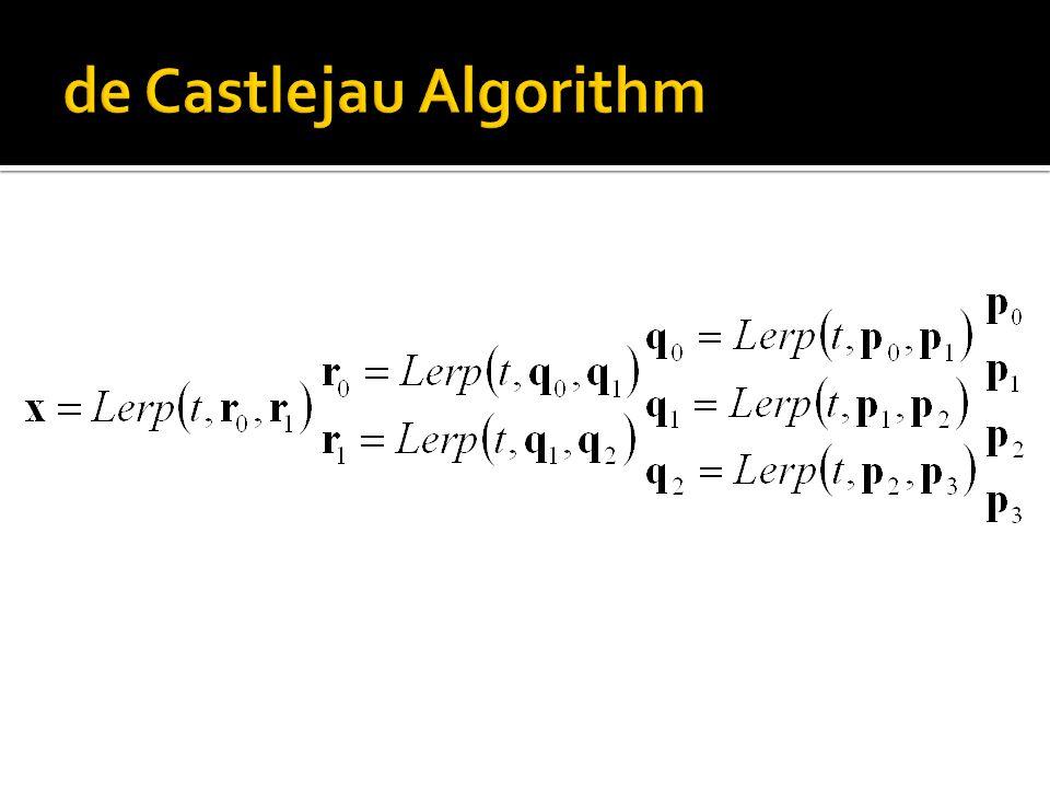 de Castlejau Algorithm