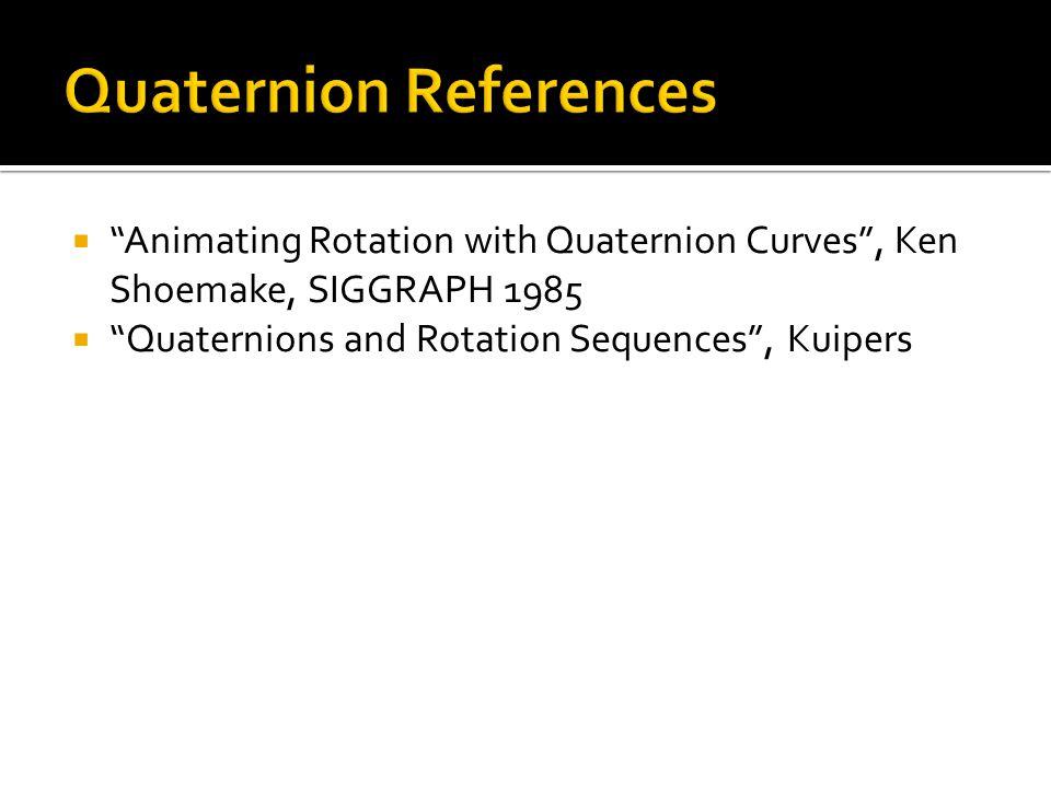 Quaternion References