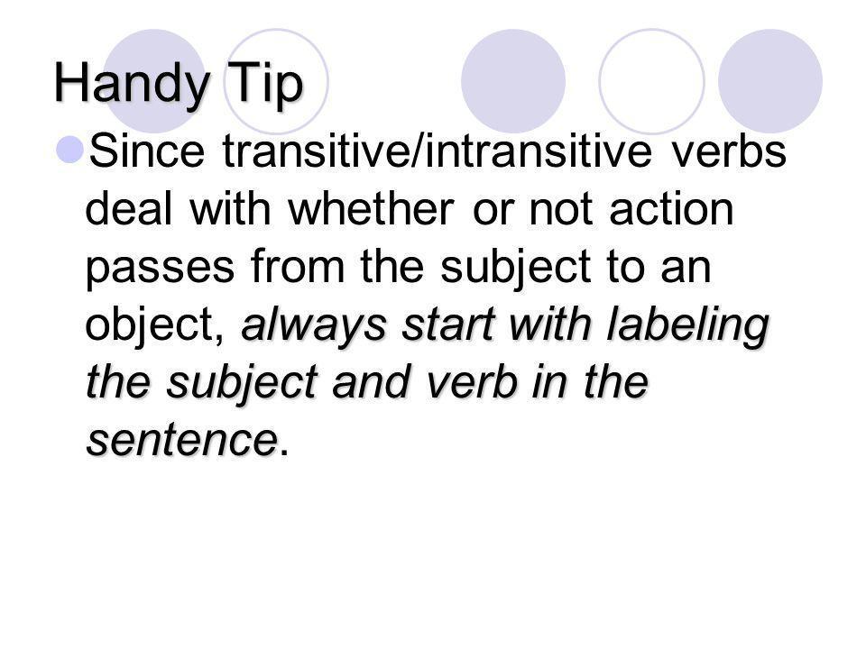 Handy Tip