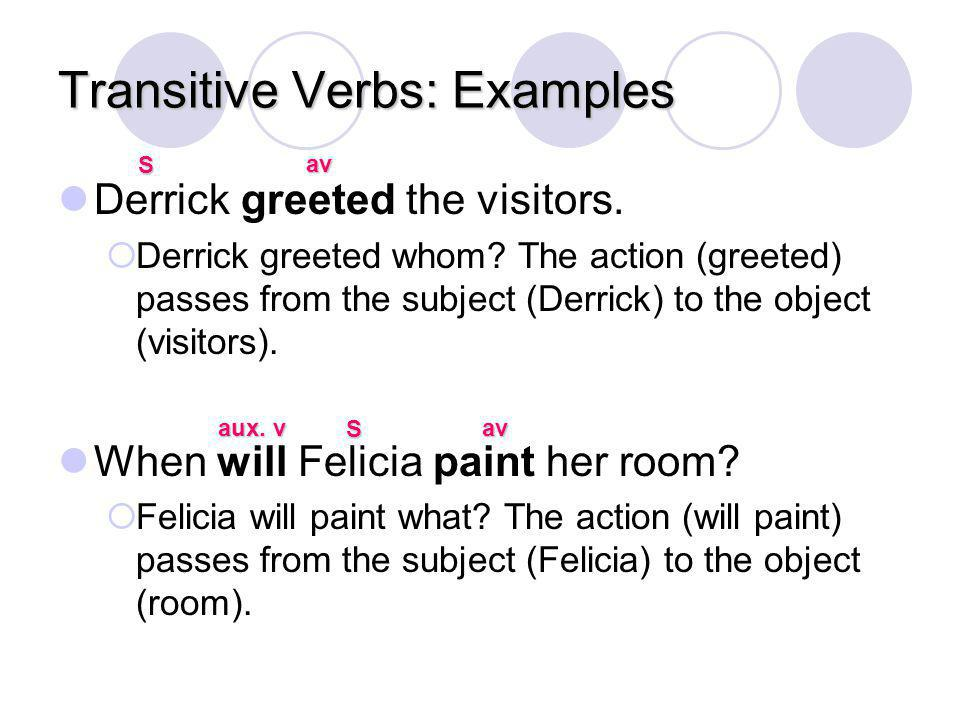 Transitive Verbs: Examples