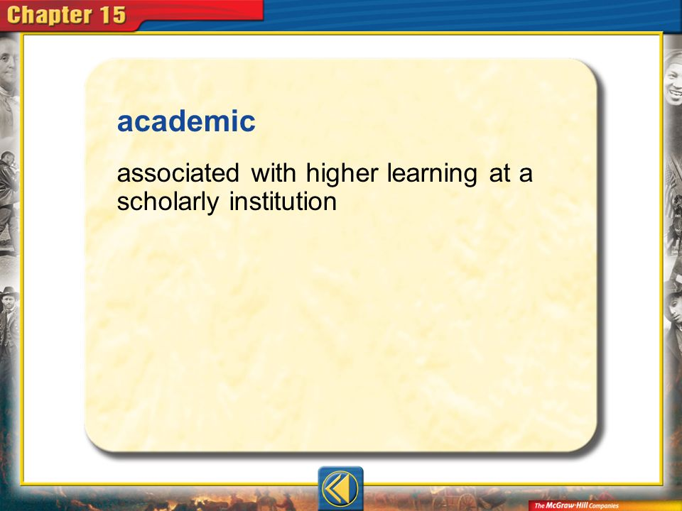 academic associated with higher learning at a scholarly institution