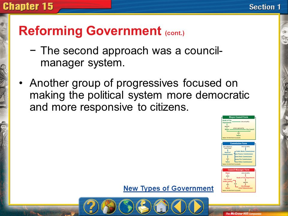 Reforming Government (cont.)
