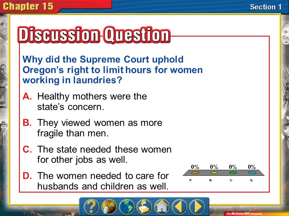 Why did the Supreme Court uphold Oregon's right to limit hours for women working in laundries