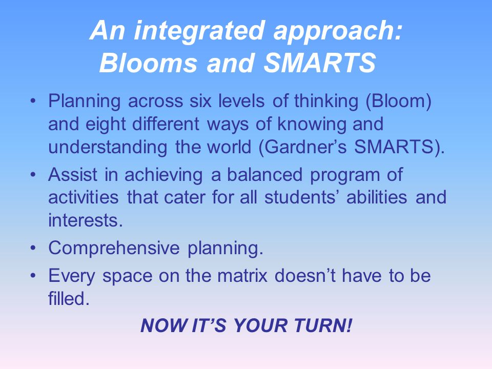 An integrated approach: Blooms and SMARTS