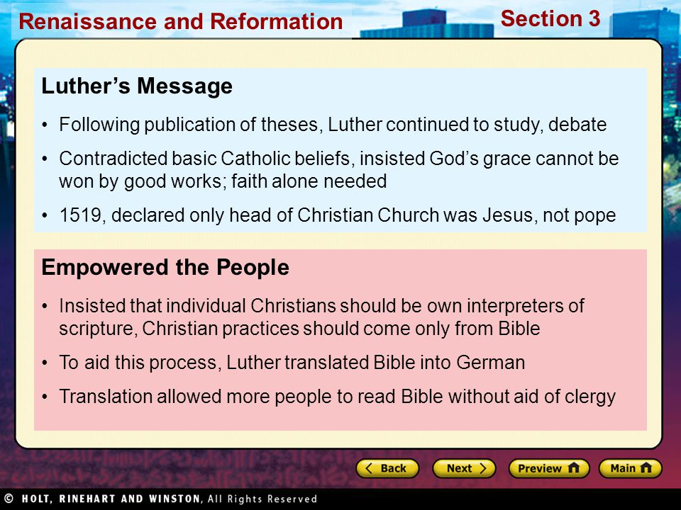 Luther's Message Empowered the People