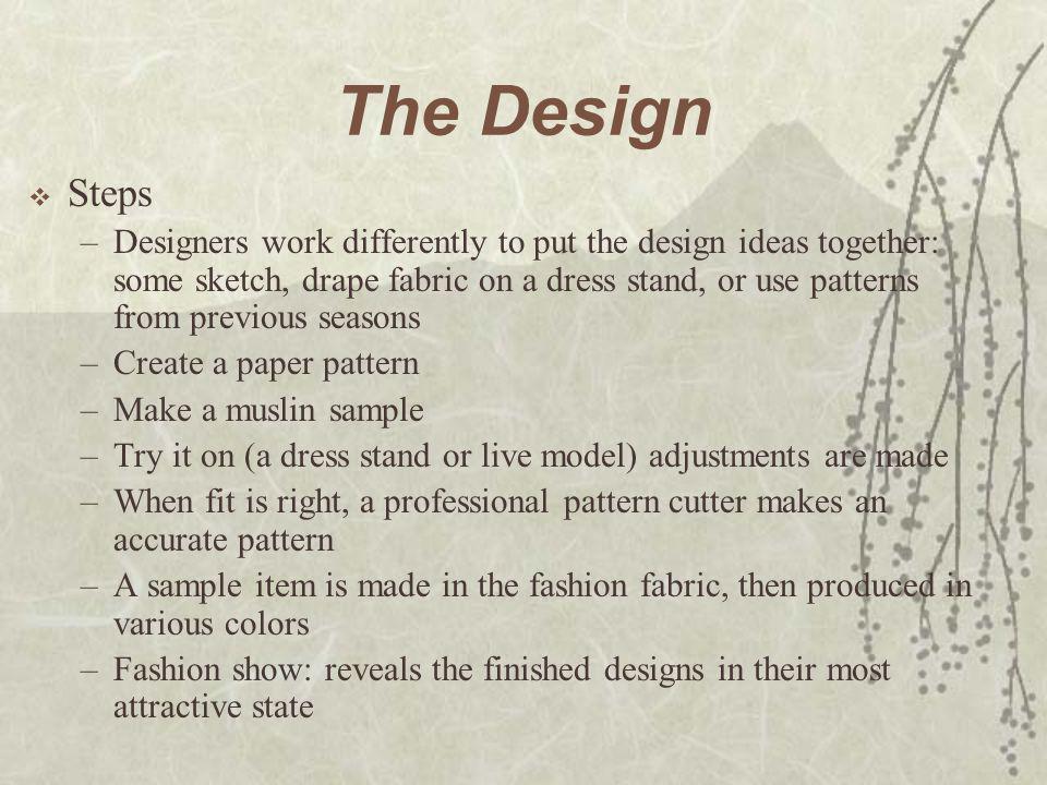 The Design Steps.