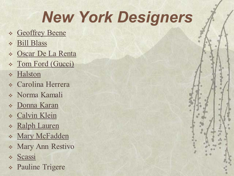 New York Designers Geoffrey Beene Bill Blass Oscar De La Renta