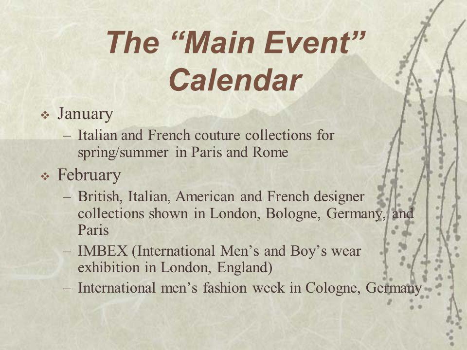 The Main Event Calendar