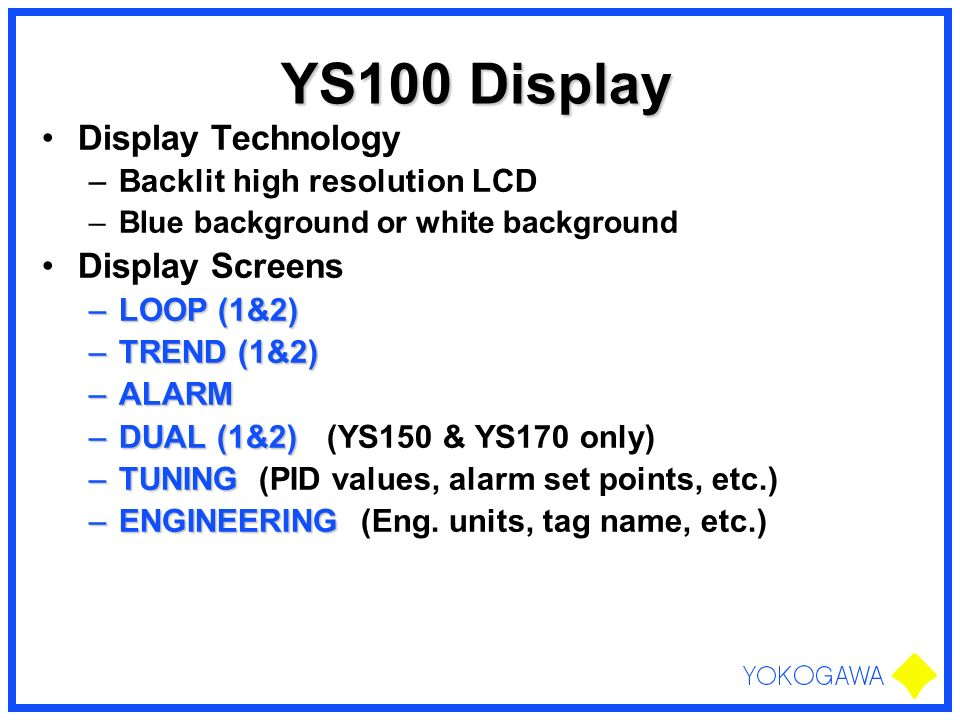 YS100 Display Display Technology Display Screens