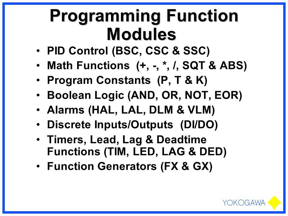 Programming Function Modules