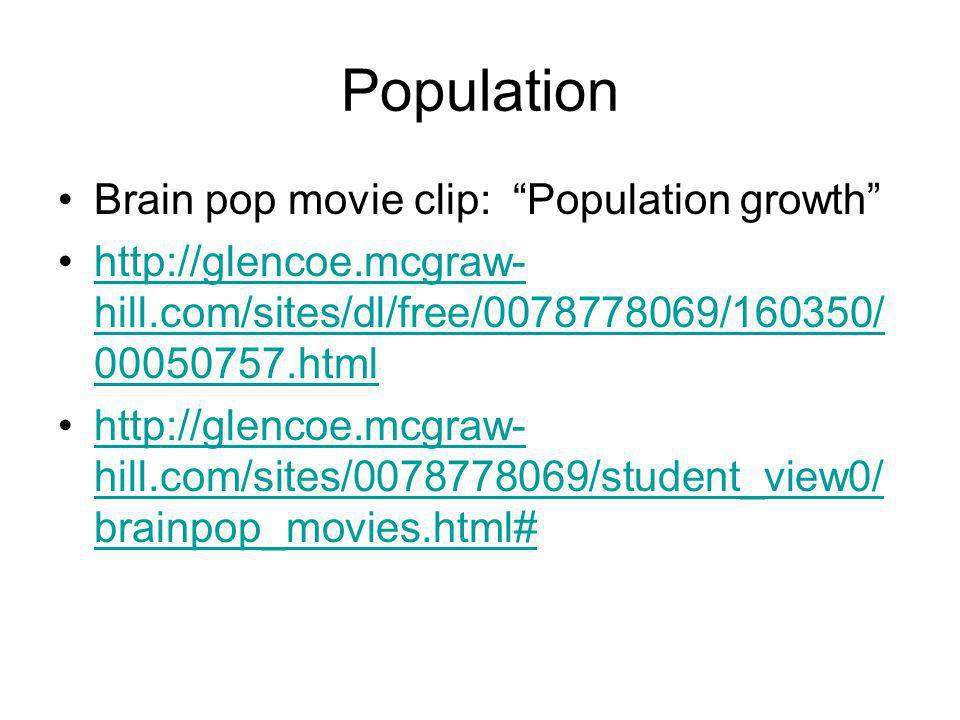Population Brain pop movie clip: Population growth